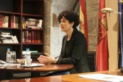 Imagen de la presidenta de Cámara de Comptos, Asun Olaechea (Foto: Miguel Ciriza. Archivo)