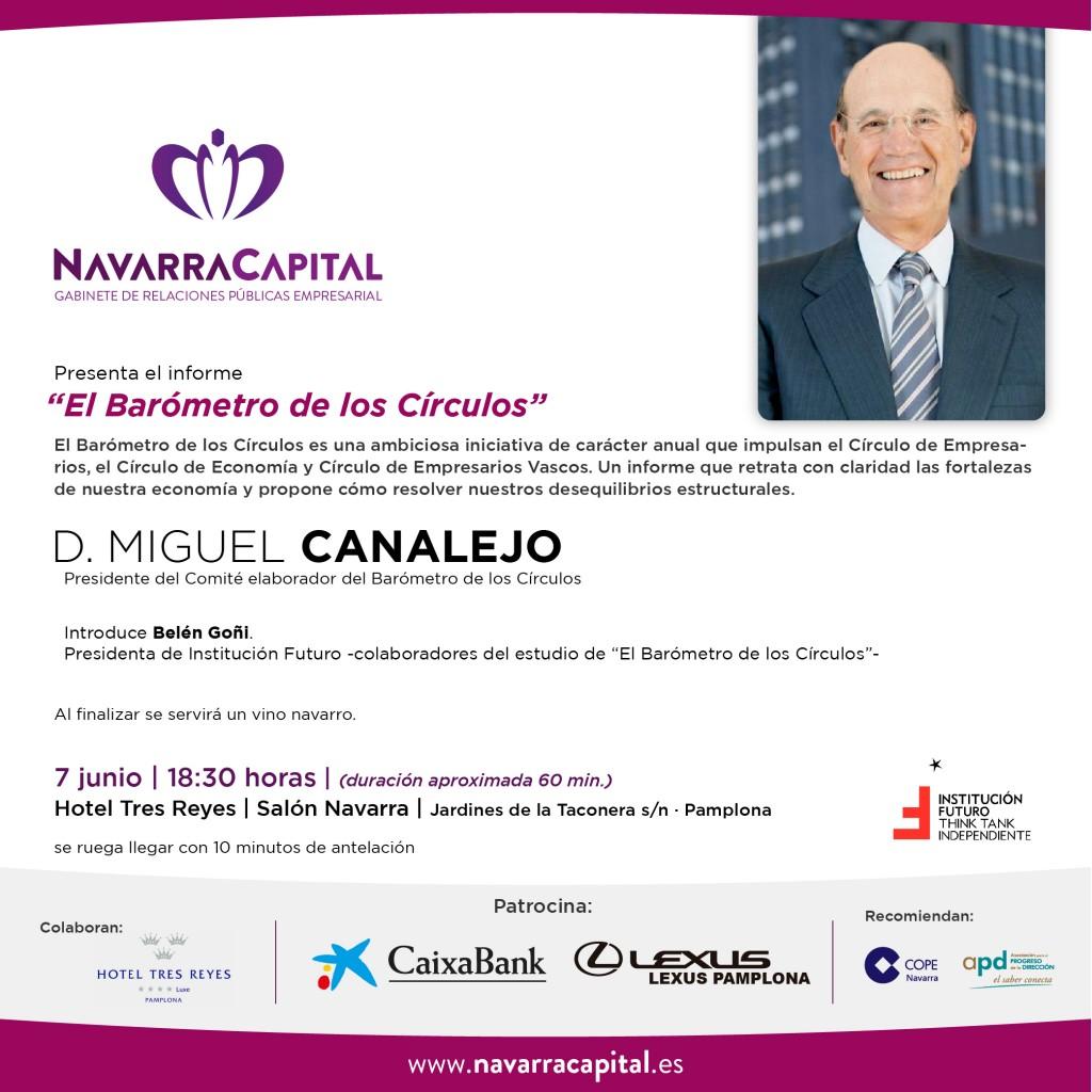 Invitación a la presentación de El Barómetro de los Círculos por Miguel Canalejo