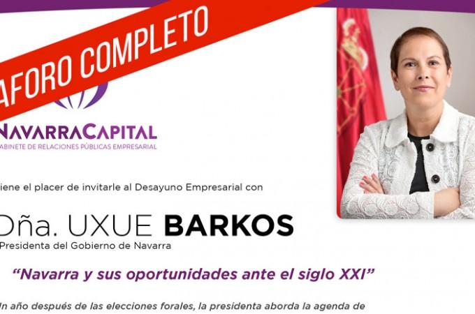 Aforo completo para el 'Desayuno Empresarial' con Uxue Barkos