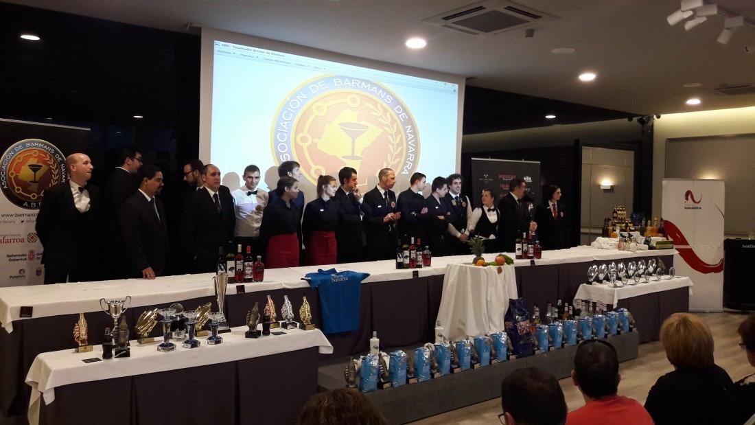 Participantes en el Certamen Barman Navarra