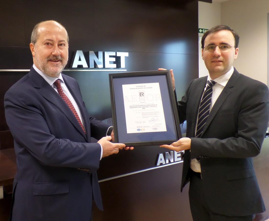 Emilio Flamarique AENOR e Ignacio Orradre, ANET