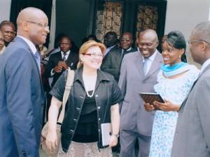 Cristina Jiménez en el Congo