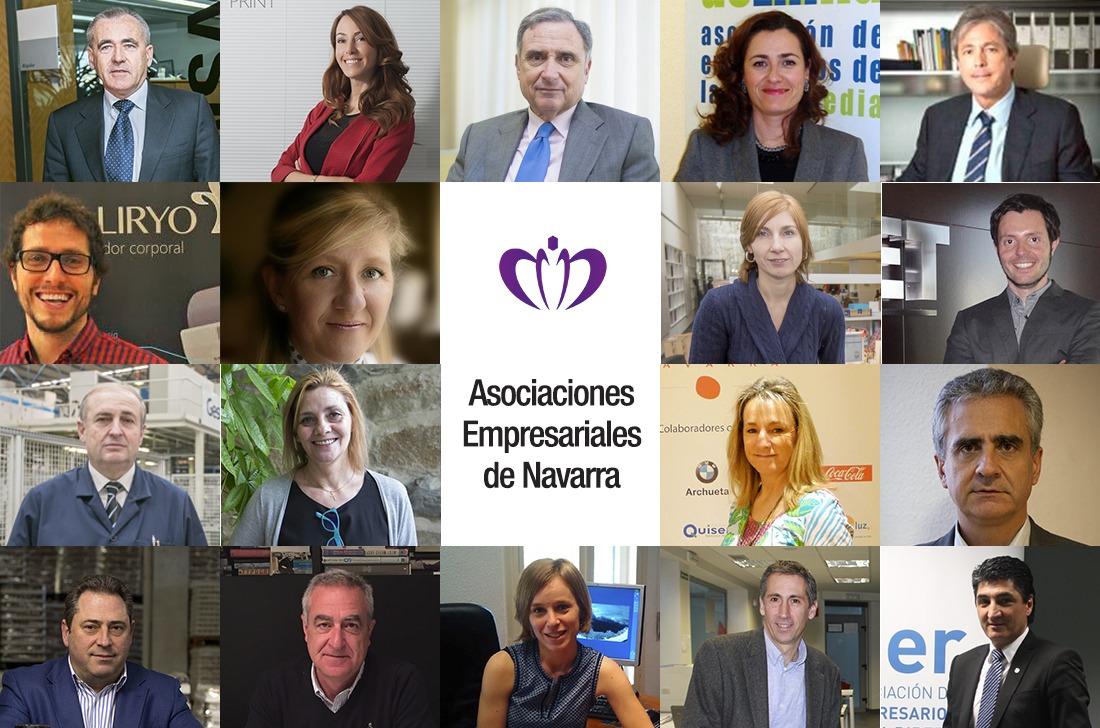 Representantes de las Asociaciones Empresariales de Navarra