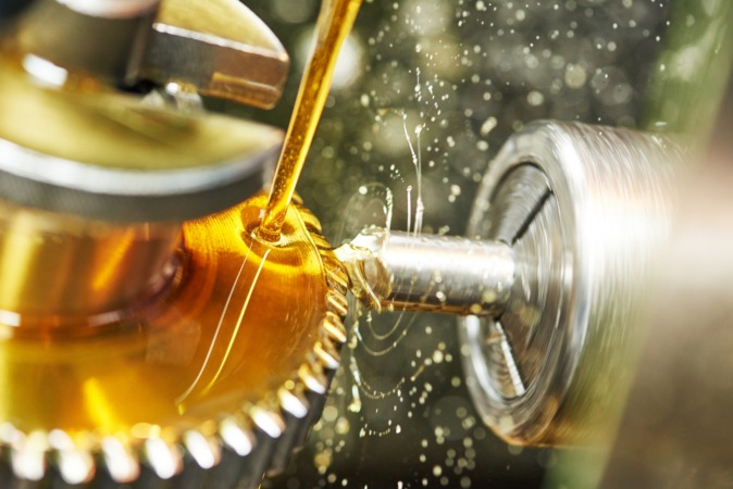 aceite máquina industrial