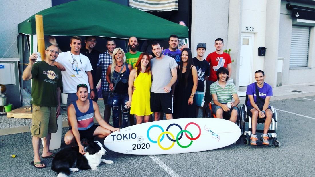 Lammona Surf celebración Olímpica