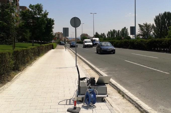 Una innovación 'made in Tudela' permite a Pamplona estrenar carril bici descontaminante