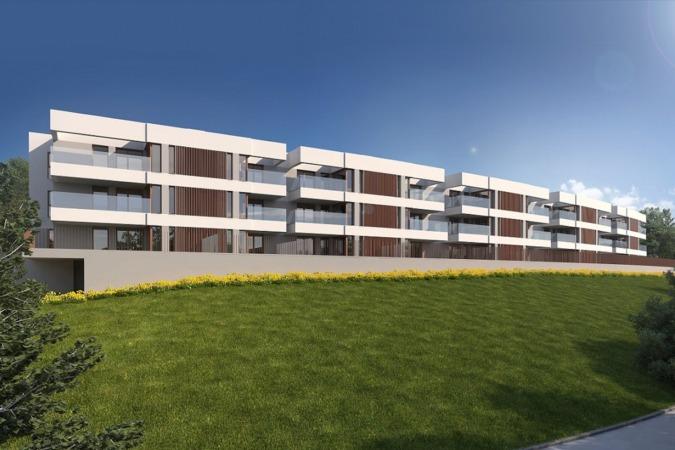 Recreación de la promoción residencial que ACR Grupo en Leioa.