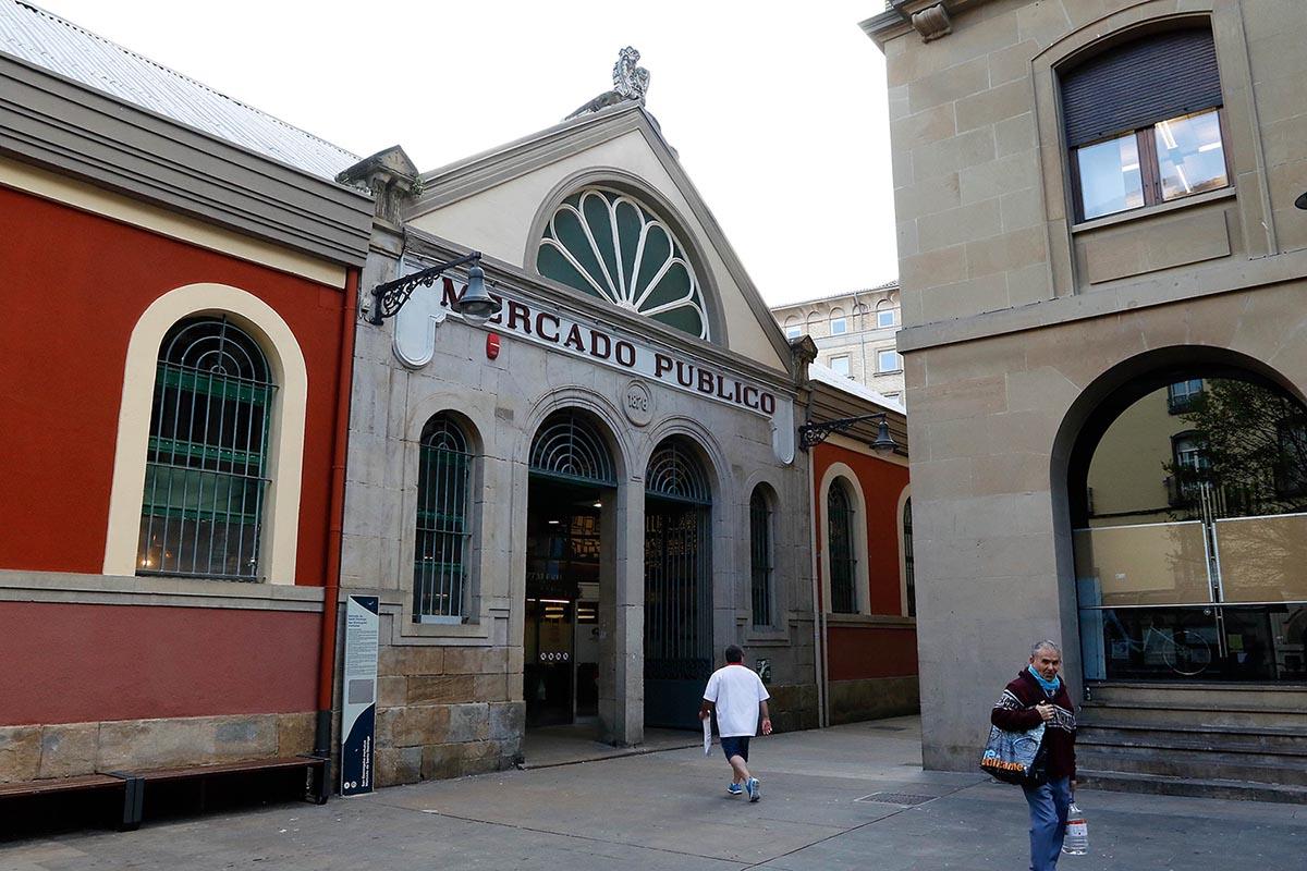 Fachada del Mercado Municipal. Comercio. Santo Domingo. compras