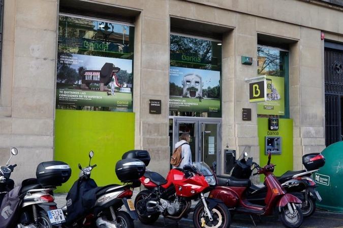 Sede central de Bankia en el Paseo de Sarasate.