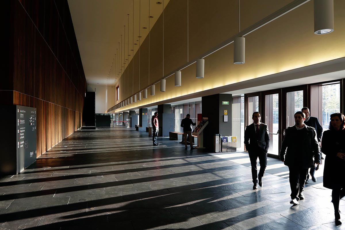 Pasillo interior del Palacio de Baluarte.