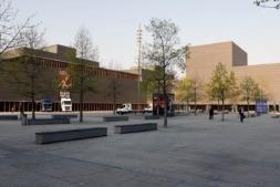 Plaza y edificio del Palacio de Exposiciones y Congresos de Baluarte.