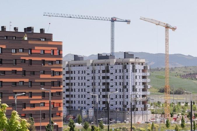 Viviendas en construcción en Soto de Lezkairu