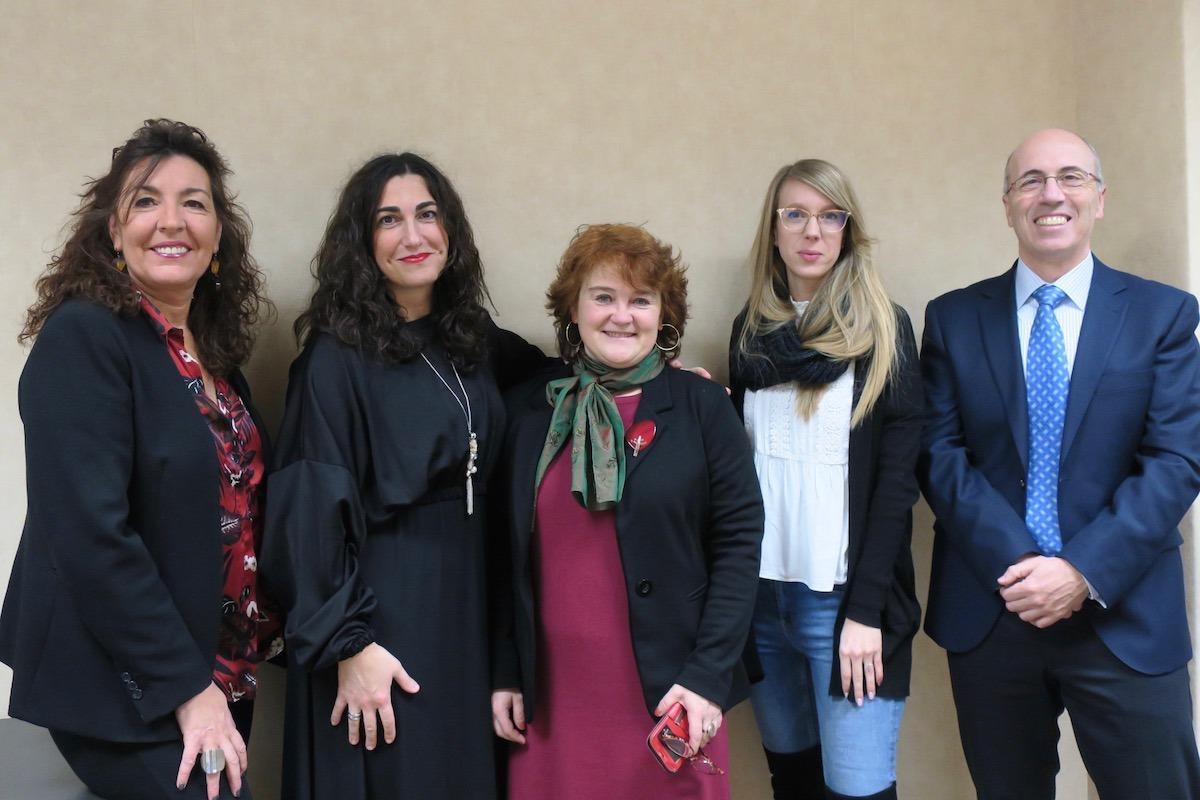 María José Vivar (Anel), Ainara Blanco Zabaleta (Eroski), Maite Pinillas (Eroski), Ilenia Saez (Eroski) y Antonio Martínez de Bujanda (Anel).