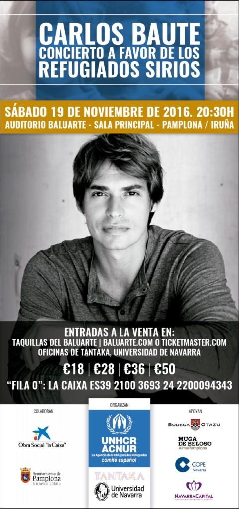 Cartel Carlos Baute Navarra