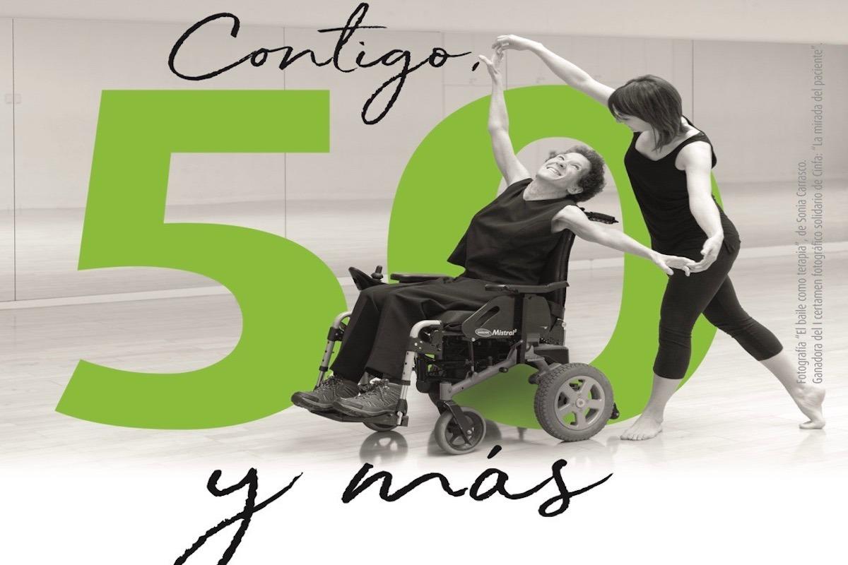 Cartel promocional de la iniciativa, con la imagen ganadora del I certamen fotográfico solidario de Cinfa.