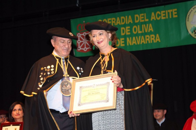 Ana Laguna, Academia de Gastronomía, nueva embajadora del aceite navarro