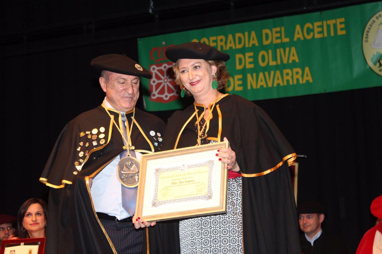 Ana Laguna, Aceite de Navarra, Academia Navarra de Gastronomía