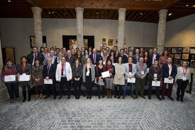 Foto de grupo de los galardonados