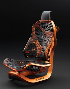 Lexus Kinetic asiento ergonomía