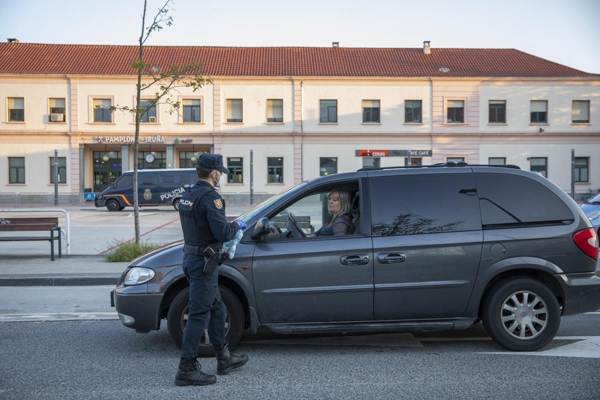 Agentes del Cuerpo Nacional de Policía también se desplegaron en la estación de tren.
