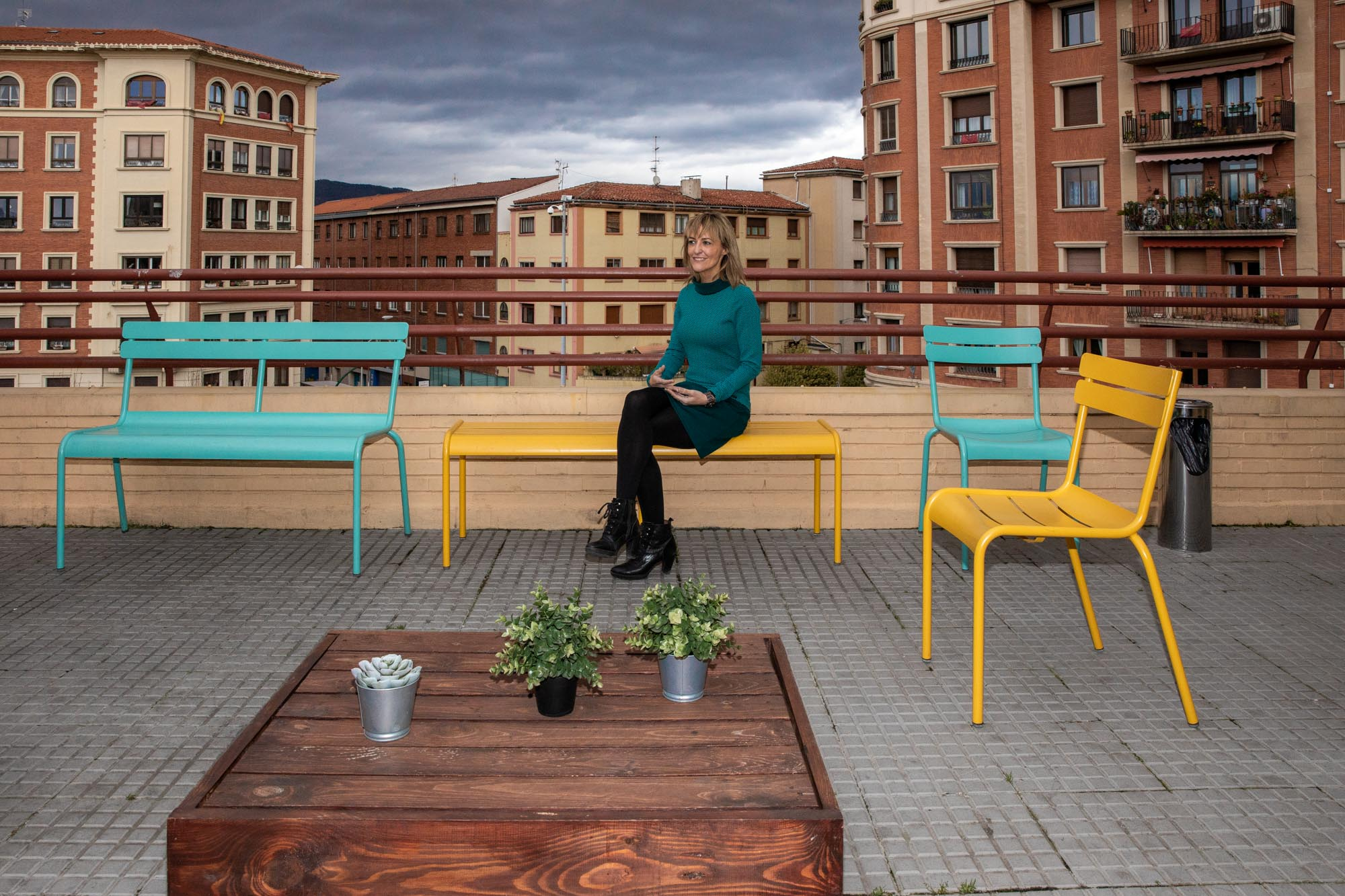 La terraza es uno de los rincones más especiales del inmueble que dirige Gurbindo.