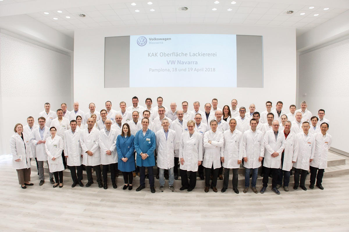 Reunión de responsables de pintura de VW   Navarra Capital