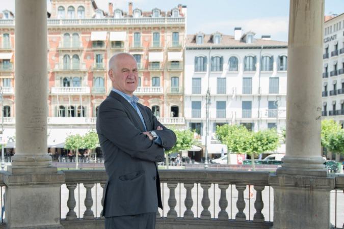 Alfonso García Liberal, promotor del modelo inclusivo-participativo de empresa respaldado por el Parlamento de Navarra. (FOTOS: David Muñiz)