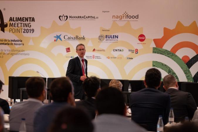Rodrigo Zschiesche, e-commerce grupo El Corte Inglés, durante su intervención en III Alimenta Meeting Point (FOTO: Víctor Rodrigo)