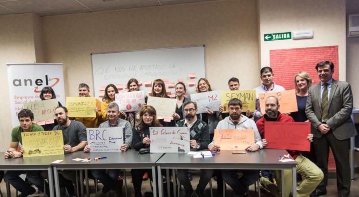 Foto de familia de los promotores y participantes del proyecto EMPRESS de ANEL. (FOTOS: Victor Rodrigo).