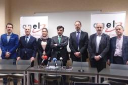 Foto de Familia de la Junta Directiva de ANEL a excepción de Elena Sarasa.
