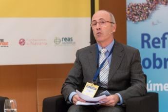 Un momento de la intervención de Antonio Martínez de Bujanda, gerente de ANEL, durante la jornada de Economía Social (FOTO: Víctor Rodrígo).