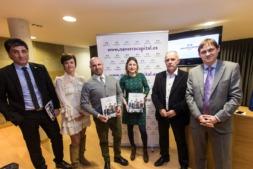El edificio de la Mancomunidad de la Ribera acogió la presentación del 'Anuario Capital 2017' en Tudela. (FOTOS: Víctor Rodrígo).