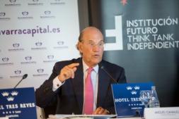 El presidente del comité elaborador de 'El Barómetro de los Círculos', Miguel Canalejo, durante un momento de su intervención. Foto: Víctor Rodrigo.