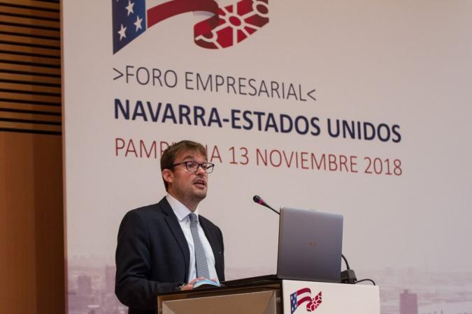 Miguel Otero durante su intervención.