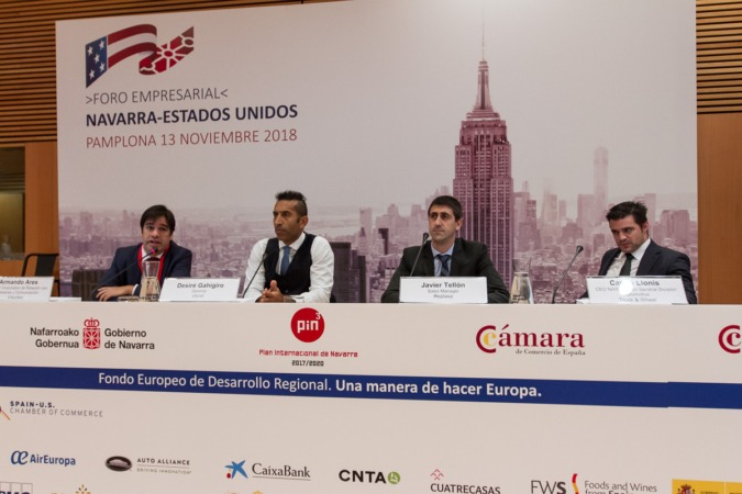 De izquierda a derecha, Armando Ares (Viscofan), Desiré Gahigiro (Uscal), Javier Tellón (Replasa) y Carlos Llonis (Truck & Wheel).