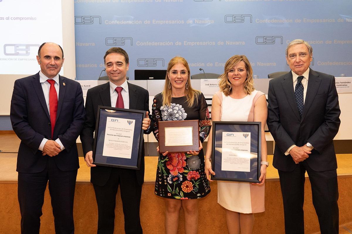 Manu Ayerdi, Ignacio Ezpeleta, Nuria Mutuberria, Marta Barja y José Antonio Sarría.