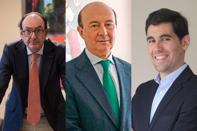 Joaquín Villanueva, Miguel Iraburu e Ignacio Salinas, del Círculo de Navarra.