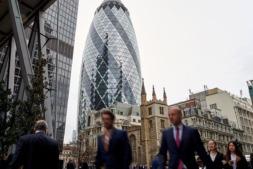 Vista panorámica de la City londinense.