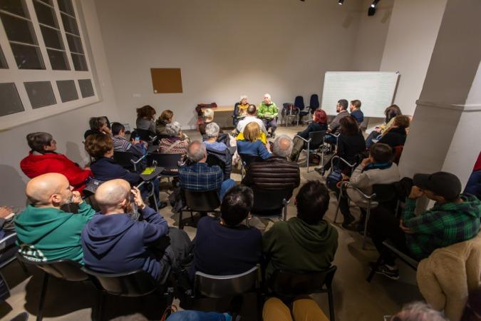 Reunión sobre 'cohousing' y Economía Social, celebrada este miércoles en Geltoki.