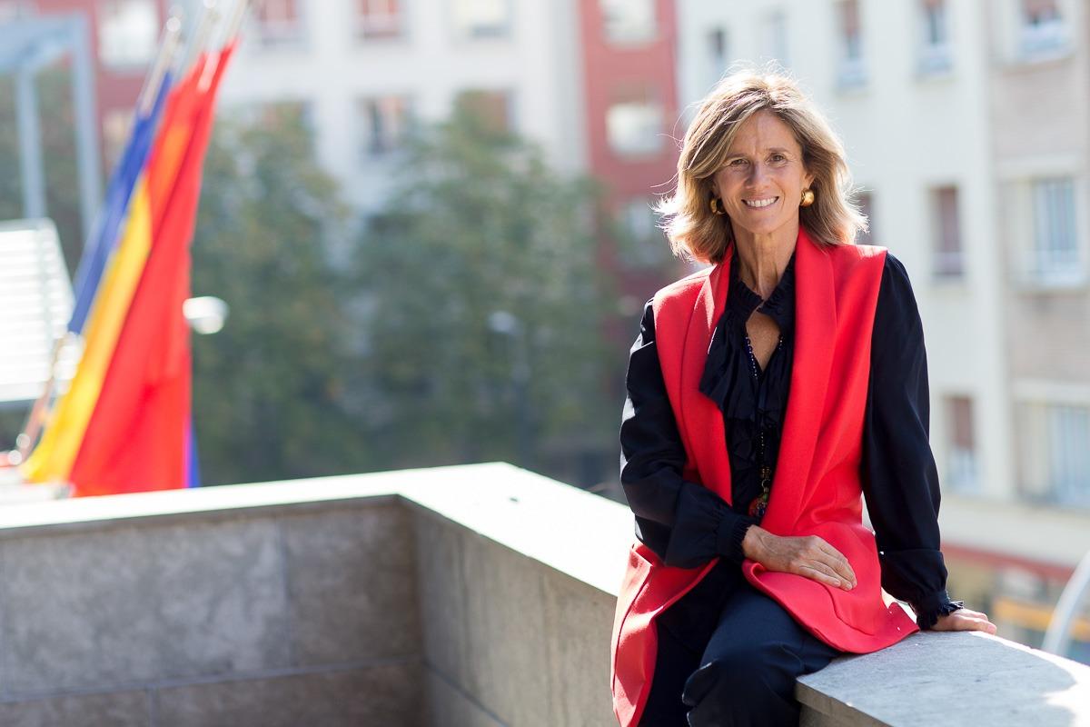 Cristina Garmendia, ex ministra y presidenta de la fundación Cotec, en la sede de la CEN. (FOTOS: Ana Osés)
