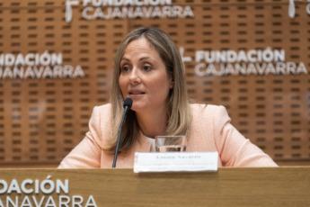 Emma Navarro durante su intervención.