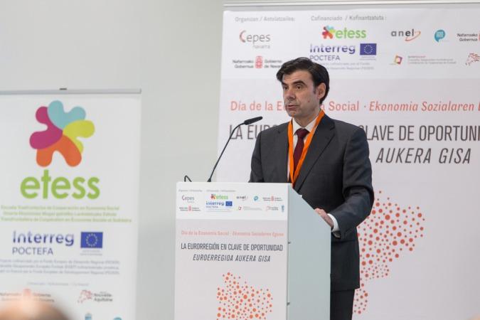 Ignacio Ugalde, presidente de CEPES Navarra y ANEL. (Foto: Víctor Rodrigo).