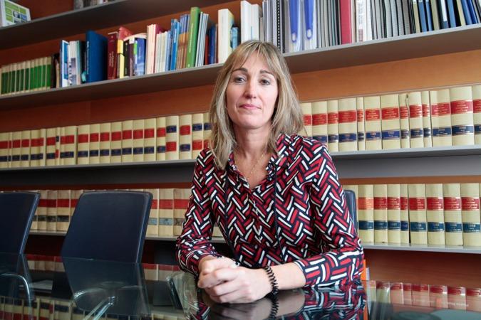 Elena Alemán, en la sede del Colegio de Ingenieros Industriales. (FOTOS: Javier Ripalda)