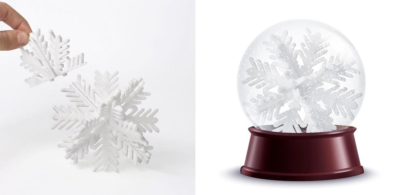 Snow Game, turrón de la colección de este año para Navidades que se monta por piezas y hecho con pomelo, albahaca y chocolate totalmente artesanal de yogur.