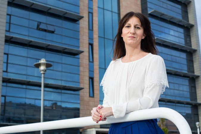 Eugenia Cervera, presidente de la Asociación de Empresas de Comunicación y Publicidad de Navarra. FOTO: Víctor Rodrigo.