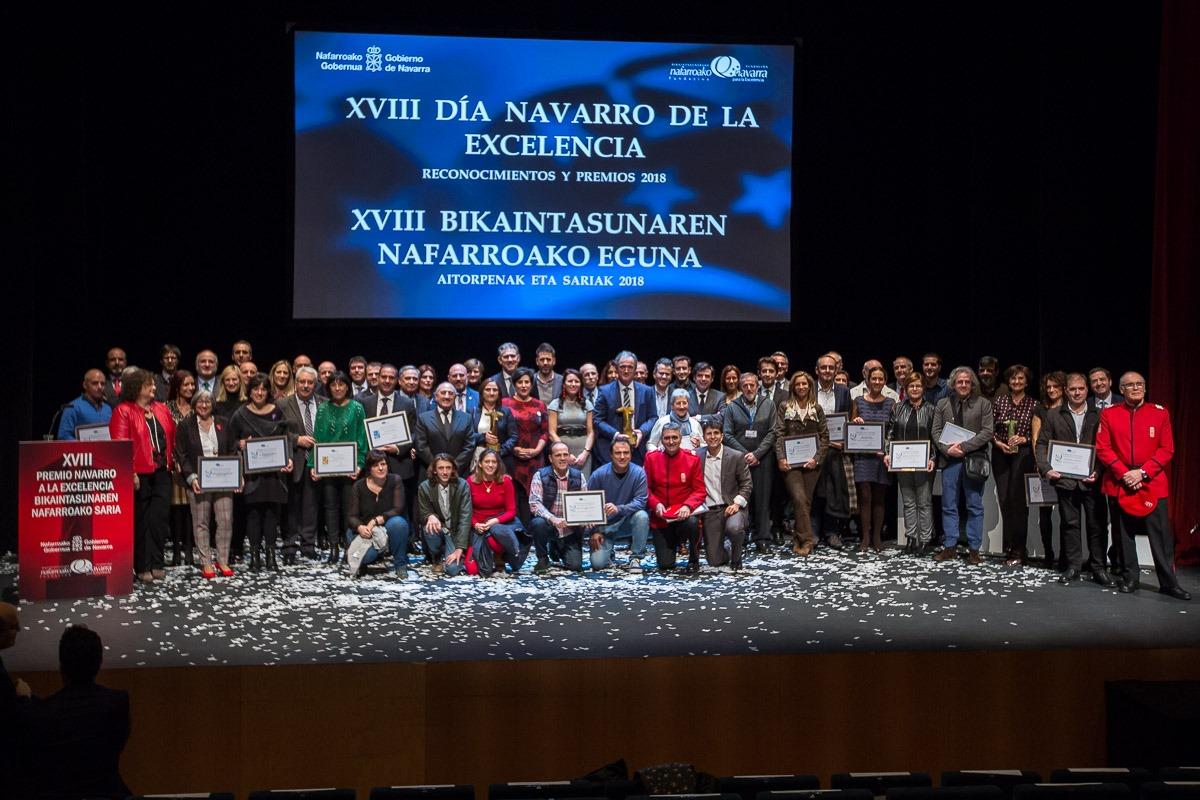Foto de familia del Día Navarro de la Excelencia 2018.