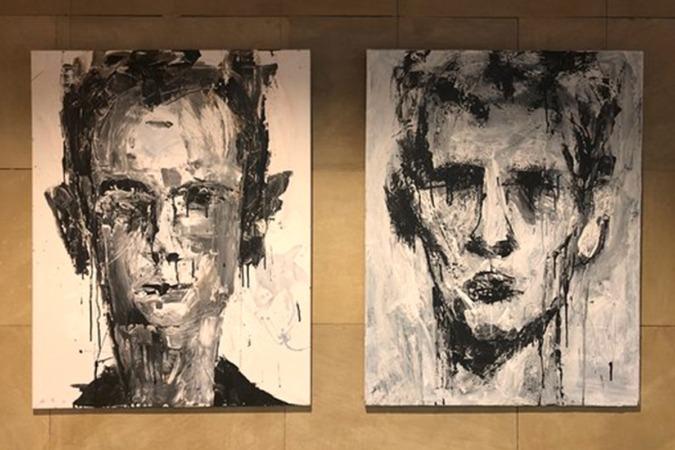 La exposición de Fermín Urdánoz permanecerá abierta en el Hotel Maisonnave hasta el 17 de enero.