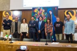 Autoridades y organizadores en la presentación del IV Flamenco On Fire en Condestable. Foto: Víctor Rodrígo.