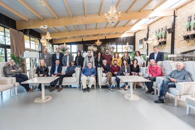 Los participantes en el segundo encuentro del 'ForoEmpresas', en los salones del Hotel pamplona El Toro.