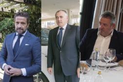 De I a D: Gerardo Pérez (Faconauto), Francisco Esparza y Carlos Sagüés.